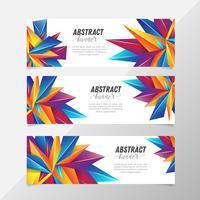 Geometriskt abstrakt bannerpaket
