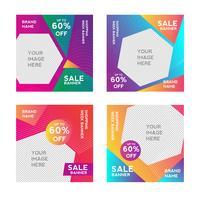 Shopping försäljning banner mall vektor
