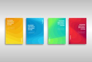 Moderne abstrakte Steigungs-Abdeckungs-Schablone