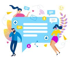 Folk pratar bubblatal Sociala medier vektor