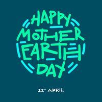 Happy Earth Day-Typografie vektor