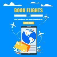 Boka flygbiljetter online-webbplats