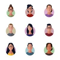 Menschen Gesichter Cartoon