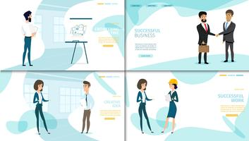 Business Company Landing Page-Auflistung