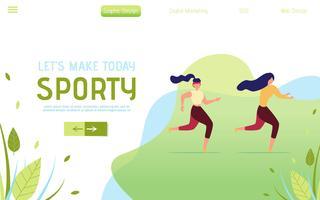 Landing Page mit laufenden Leuten vektor