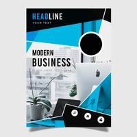 Modernes Geschäftsbroschüren-Schablonen-Design