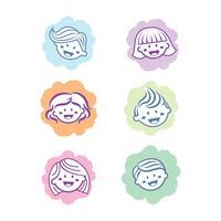 Kinder Symbol Haar Icon Design vektor