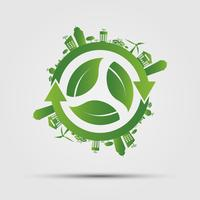 Ökologie-Konzept. rette die Welt.