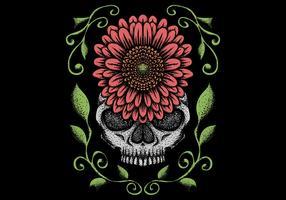 Schädel mit Blumendekoration