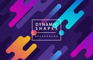 moderner dynamischer Formarthintergrund. Kombination modernen Stil Abstraktion mit Komposition aus verschiedenen abgerundeten Formen Hintergrund.