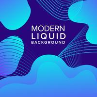 Blå flytande bakgrundsdesign med trendiga former sammansättning