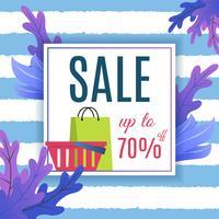 Stor försäljningsreklam för sommaren