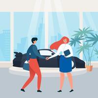 Autovermietungsausstellungsraum Kaufendes Auto