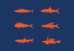 Plattfisch Set Vektor