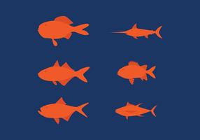 Vektor Fisch Set
