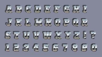 Vektor Chrome 3d Schriftart