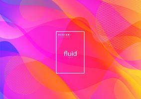 Flüssiger abstrakter flüssiger Hintergrund vektor