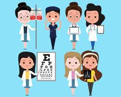 läkare karaktär uppsättning