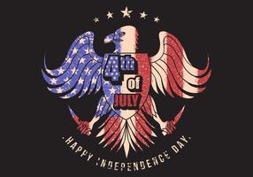 Adler mit USA-Flaggenmuster vektor
