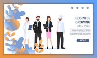 Unterschiedlicher Geschäfts-Charakter Job Fair Banner