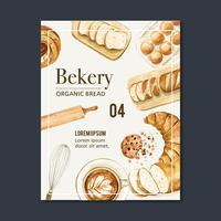 Bageri affisch mall samling vektor