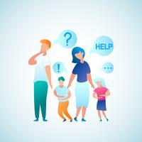 Elternaufruf für Help Doctor vektor