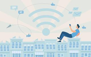 reklamaffisch tillgång till globalt nätverk vektor