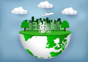 Miljövänlig stad vektor