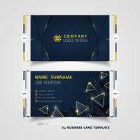 Blaue Visitenkarte der Luxussteigung