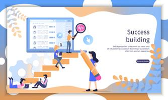 Erfolgreiche Business Team Website vektor