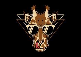 Giraffe mit Brille