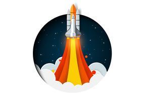 Weltraumrakete startet