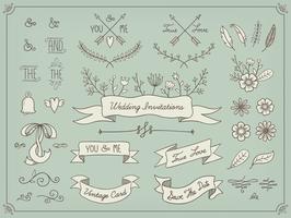 Blommig dekoruppsättning vektor