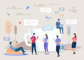 Community für soziale Netzwerke vektor