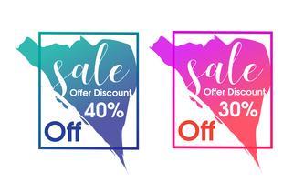 Försäljning banner mall design vektor