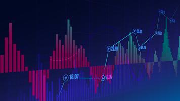 Aktiemarknadsgraf vektor