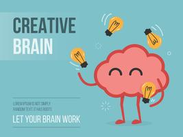 Gehirn Jonglieren Glühbirnen vektor