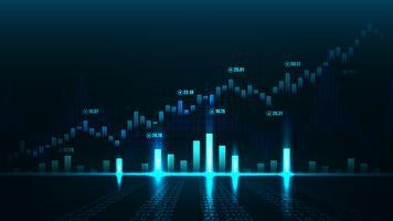 Börsen- oder Devisenhandelsdiagramm vektor