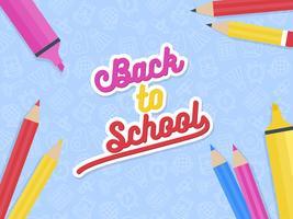 Tillbaka till skolans affischmall vektor