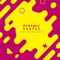abstrakte flache dynamische Formen