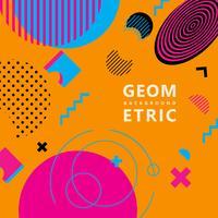 trendiga geometriska former memphis hipster bakgrund