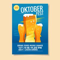 Oktoberfest Party Plakat Vorlage