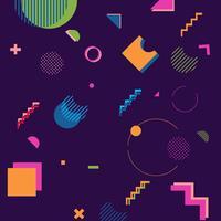 trendige geometrische Formen Memphis Hipster Hintergrund