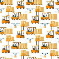 Gaffeltruckbil full med rutmönster