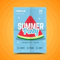Sommer-Wassermelonen-Partyplakat