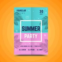 Färgglad affisch för sommarfest