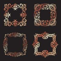 Sammlung von dekorativen quadratischen Rahmen