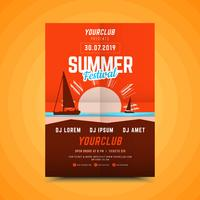 Vertikal sommarfest-affisch.