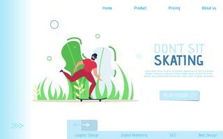 Skating Webbsida vektor
