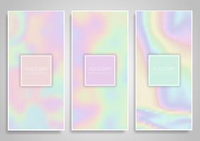 Hologram banner design